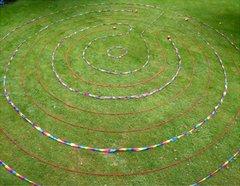Looplabyrint en vingerlabyrinten van keramiek